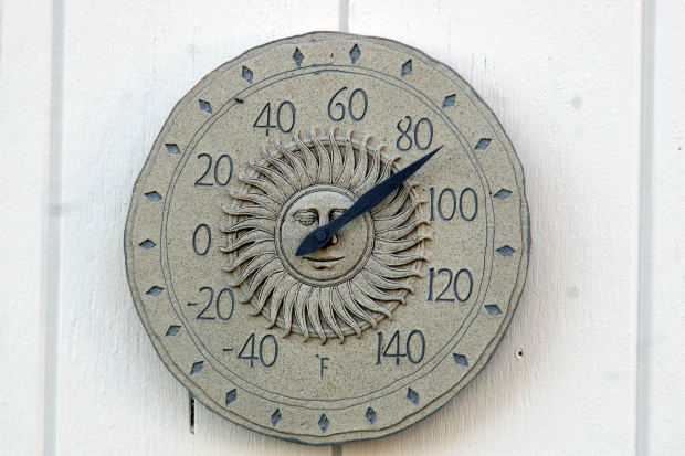 Sundial thermometer 90 degrees