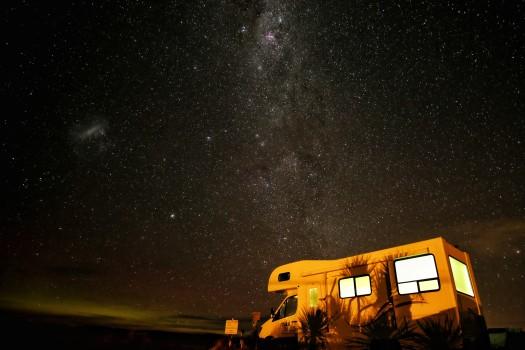 RV under stars