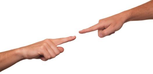 Finger pointing blame