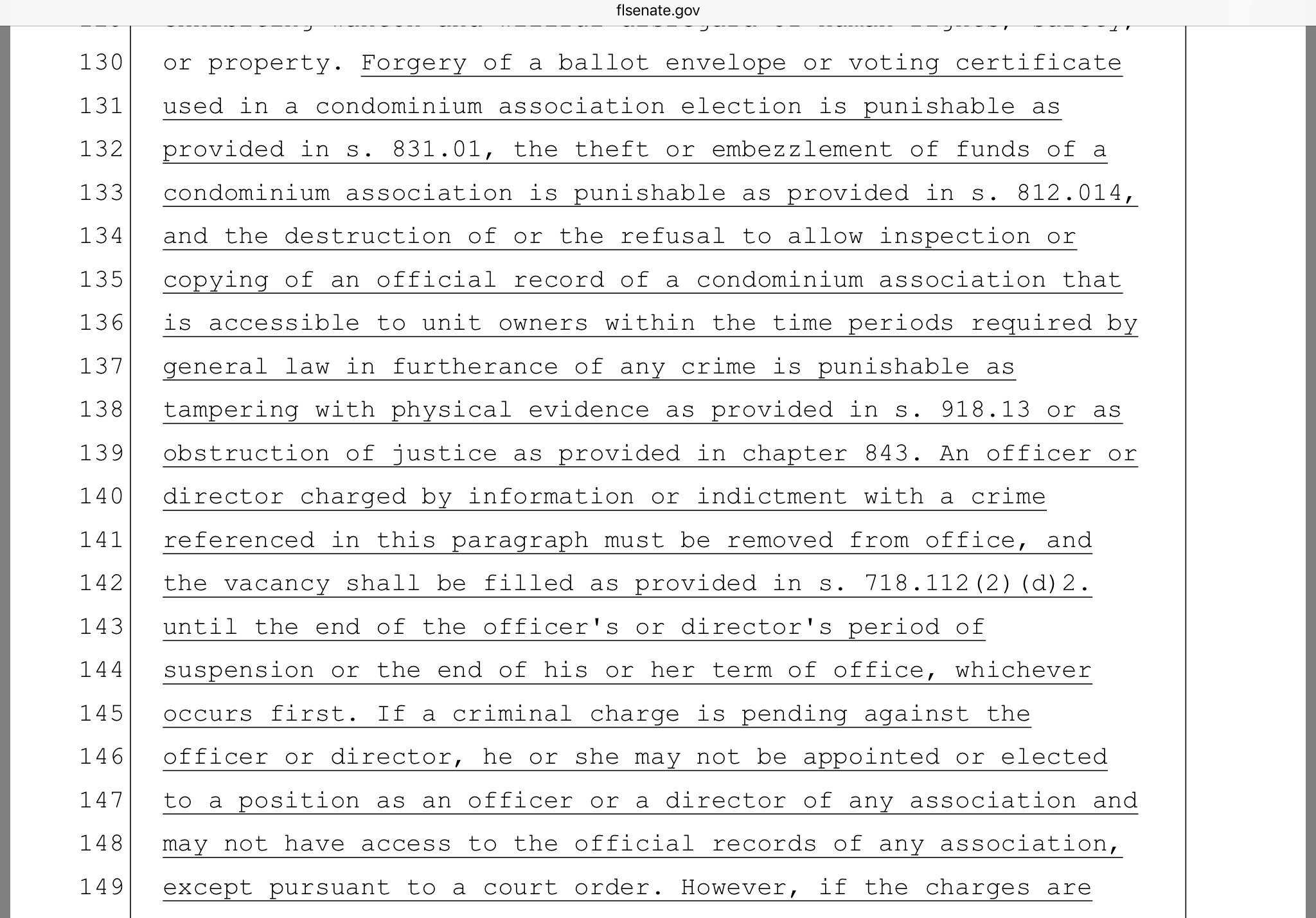 Fl legislature passes condo bill including criminal penalties notice that refusal to provide access to records if not related to a provable crime would not result in a criminal penalty 1betcityfo Image collections