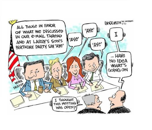 Board meeting cartoon transparency