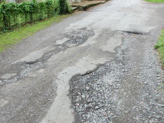 Bad roads erosion