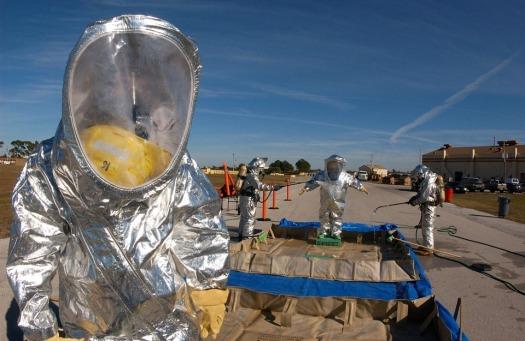 Hazmat-suits-disaster-training