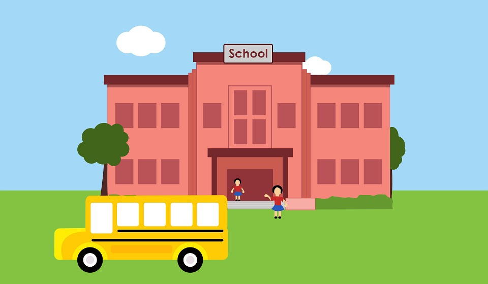 Back to School bus graphic